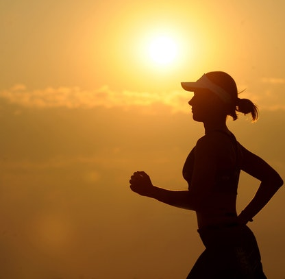 Female long distant runner
